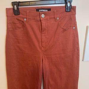 Express - Extreme High Rise Burnt Orange pants - 2